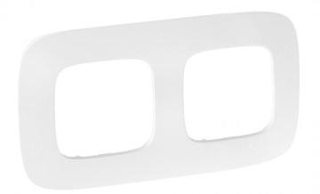 Рамка двухместная Valena Allure (Тиснение белое) 754372