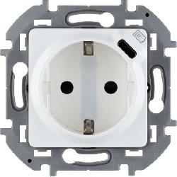 Розетка электрическая с USB Inspiria (белый) 673770