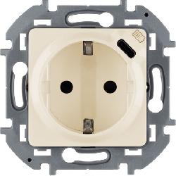 Розетка электрическая с USB Inspiria (слоновая кость) 673771