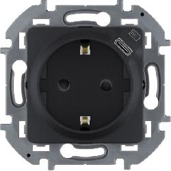 Розетка электрическая с USB Inspiria (антрацит) 673773