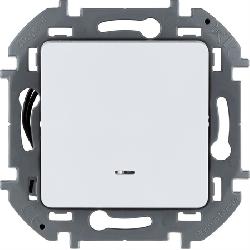 Выключатель с подсветкой Inspiria (белый) 673610