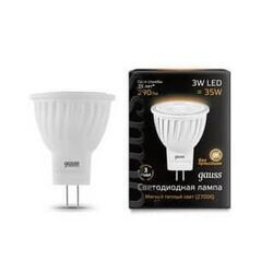Светодиодная лампа Gauss LED 3Вт. GU4 220V MR11 (теплый свет) 132517103