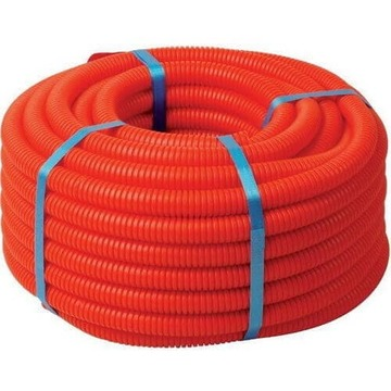 Гофра ПНД Ф 16 тяжёлая с протяжкой DKC (цвет оранжевый) 71516
