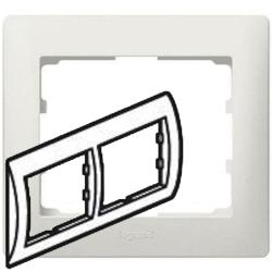 Рамка Galea life двухместная горизонтальная (перламутр)