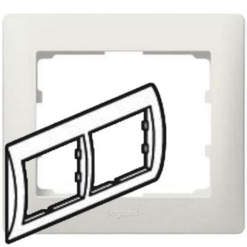 Рамка Galea life двухместная горизонтальная (перламутр) 771502