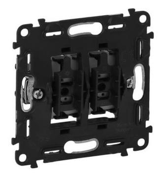Механизм кнопочного двухклавишного выключателя Legrand Valena IN'MATIC 752018