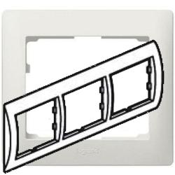 Рамка Galea life трехместная горизонтальная (перламутр)