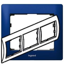 Рамка Galea life трехместная горизонтальная (синий)