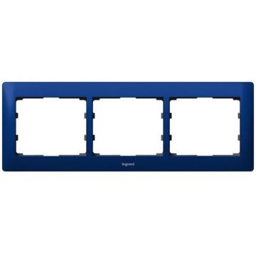 Рамка Galea life трехместная горизонтальная (синий) 771913