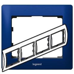 Рамка Galea life четырехместная горизонтальная (синий)
