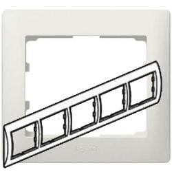 Рамка Galea life пятиместная горизонтальная (перламутр) 771505