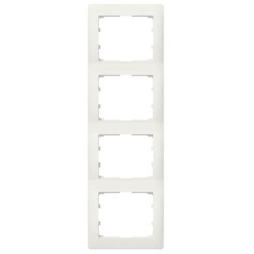 Рамка Galea life четырехместная вертикальная (перламутр) 771508
