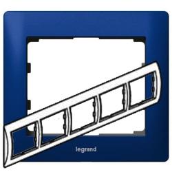 Рамка Galea life пятиместная горизонтальная (синий)