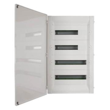 Бокс в нишу Legrand Practibox³ на 72 (4х18) мод. белая дверь (с шиной PE) 401719