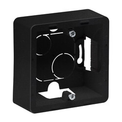 Коробка для наружного монтажа Inspiria одноместная (антрацит) 673983