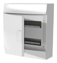 Бокс настенный ABB Mistral41 на 36 (2x18) мод. непрозрачная дверца (с шиной) 1SPE007717F9977
