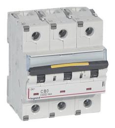 Автоматический выключатель DX3 3-полюсный 80А 10kA/16kA 409280