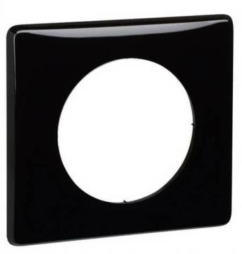 Рамка одноместная Celiane (черный глянец) 066681