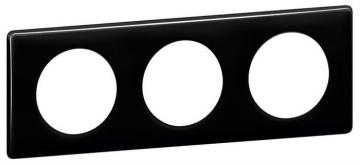 Рамка трехместная Celiane (черный глянец) 066683