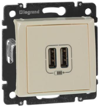Розетка USB Valena (слоновая кость) 774170