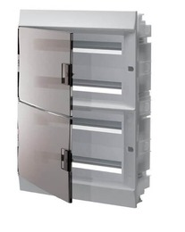 Бокс в нишу ABB Mistral41 на 72 мод. прозрачная дверца (с шиной) 1SLM004101A2210