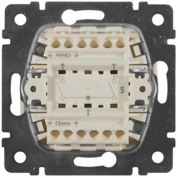 Выключатель двухклавишный Valena (Алюминий) 770105