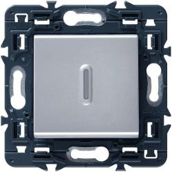Выключатель-переключатель с подсветкой Mosaic (алюминий) 079212+067686+080251