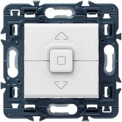 Кнопка-выключатель для управления приводом жалюзи Mosaic (белый) 077025+08251
