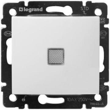 Перекрестный переключатель с подсветкой Valena (белый) 774448