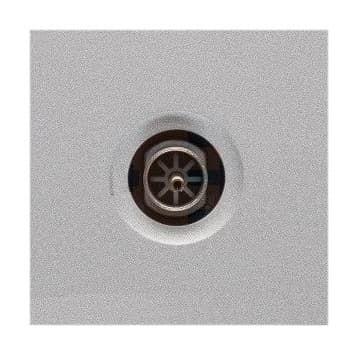 Механизм телевизионной розетки Legrand Mosaic 2 модуля простой (алюминий) 079292
