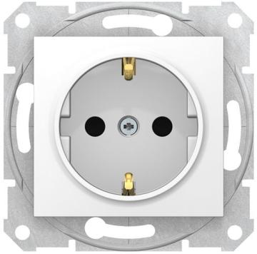 Розетка Sedna с/з со шторками с быстрозажимными клеммами (белый) SDN3001721