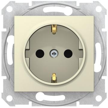Розетка Sedna с/з со шторками с быстрозажимными клеммами (бежевый) SDN3001747