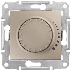 Светорегулятор 60-500 Вт Sedna проходной, емкостный (титан) SDN2200568