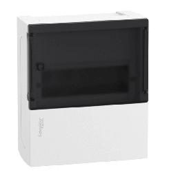 Бокс настенный SE Mini Pragma на 8 мод. с прозрачной дверью с клеммниками N+PE MIP12108S