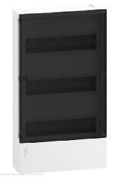 Бокс настенный SE Mini Pragma на 36 мод. с прозрачной дверью с клеммниками N+PE MIP12312S