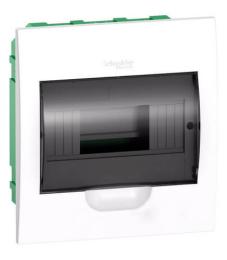 Бокс в нишу Schneider Electric Easy9 на 8 мод. с прозрачной дверью с клеммниками N+PE EZ9E108S2FRU