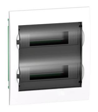 Бокс в нишу Schneider Electric Easy9 на 24 мод. с прозрачной дверью с клемммниками N+PE EZ9E212S2FRU
