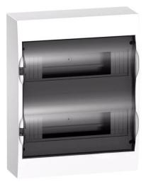 Бокс настенный Schneider Electric Easy9 на 24 мод. с прозрачной дверью с клеммниками N+PE EZ9E212S2SRU