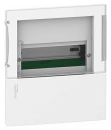 Бокс в нишу Schneider Electric Mini Pragma на 6 мод. с прозрачной дверью с клеммниками N+PE MIP22106S