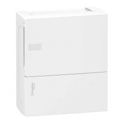 Бокс настенный SE Mini Pragma на 8 мод. с белой дверью с клеммниками N+PE MIP12108