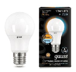 Лампа Gauss LED 10Вт. Е27 с изменяемой цветовой температурой 102502110-T