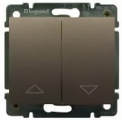 Кнопка-выключатель Galea Life для рольставней (темная бронза)
