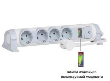 Удлинитель «Комфорт и безопасность» 4 розетка с кабелем 3м 694643