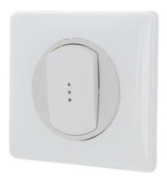 Выключатель одноклавишный с подсветкой Celiane (белый) 067002+067684+068003+080251