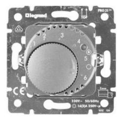 Механизм терморегулятора Galea Life с датчиком для теплого пола (алюминий)