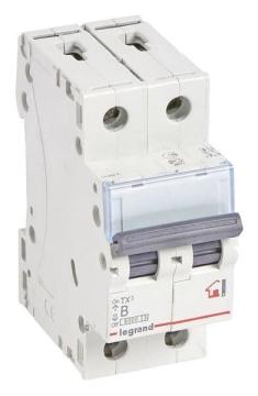 Автоматический выключатель TX3 2-полюсный 25А (хар-ка B) 403988
