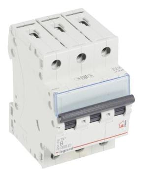 Автоматический выключатель TX3 3-полюсный 63А (хар-ка B) 404006