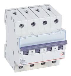Автоматический выключатель TX3 4-полюсный 16А (хар-ка B) 404014