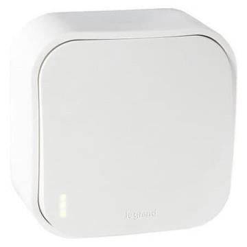 Выключатель одноклавишный с подсветкой 10А Quteo (Белый) 782200+782257