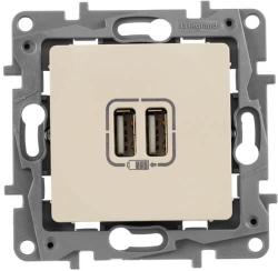 Розетка USB Etika (слоновая кость)
